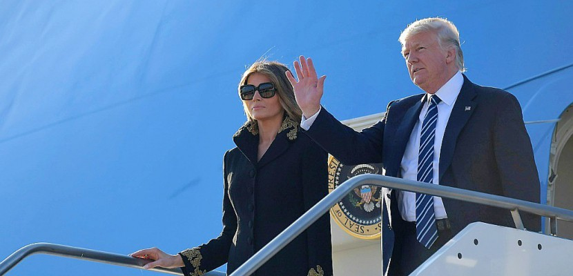 Trump arrive à Rome pour voir le pape, sa première étape européenne