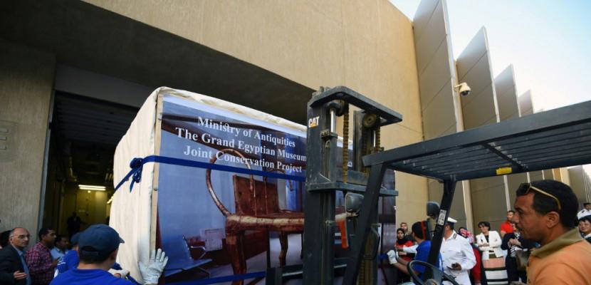 Premières pièces du trésor de Toutankhamon au nouveau musée du Caire