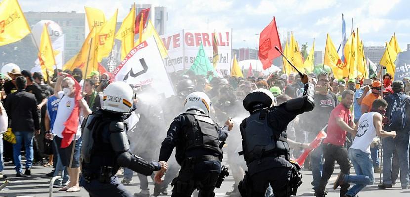 Brésil/manifestations: l'armée déployée à Brasilia