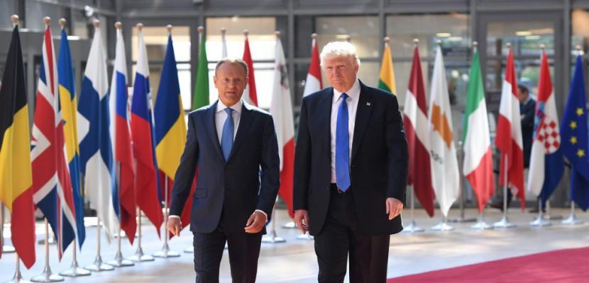 UE: Trump reçu à Bruxelles par Tusk et Juncker