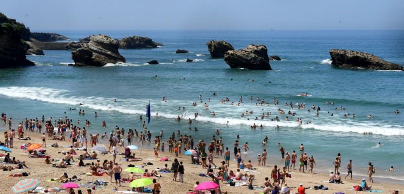Forte affluence sur les plages de l'océan Atlantique