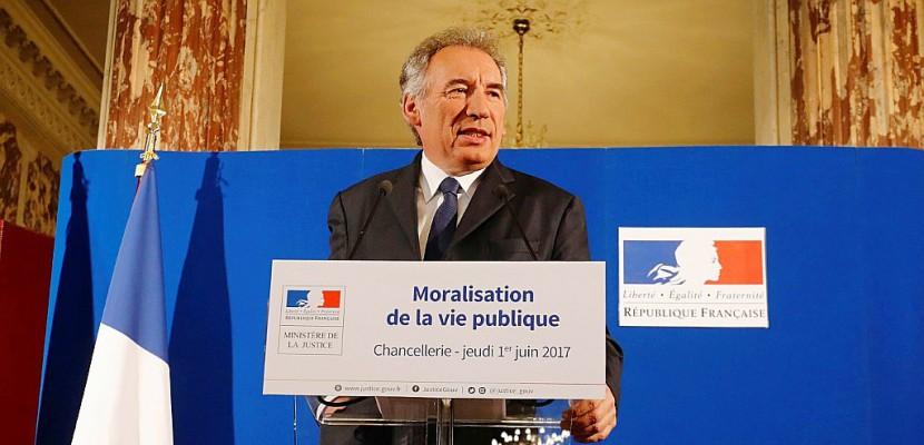 Moralisation politique: la loi en Conseil des ministres mercredi