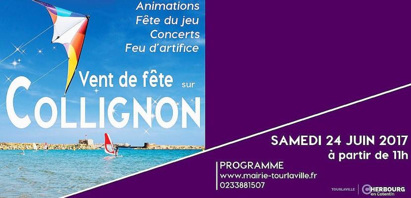 Vent de Fête sur Collignon, journée animée sur la plage de Tourlaville ce samedi