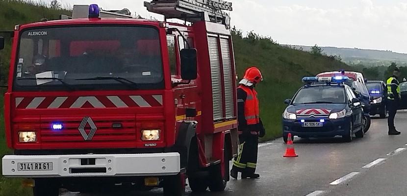 Près d'Alençon : un mort et un blessé grave dans une sortie de route