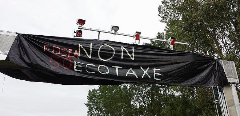Manche : prison ferme requise en appel pour la destruction d'un portique écotaxe