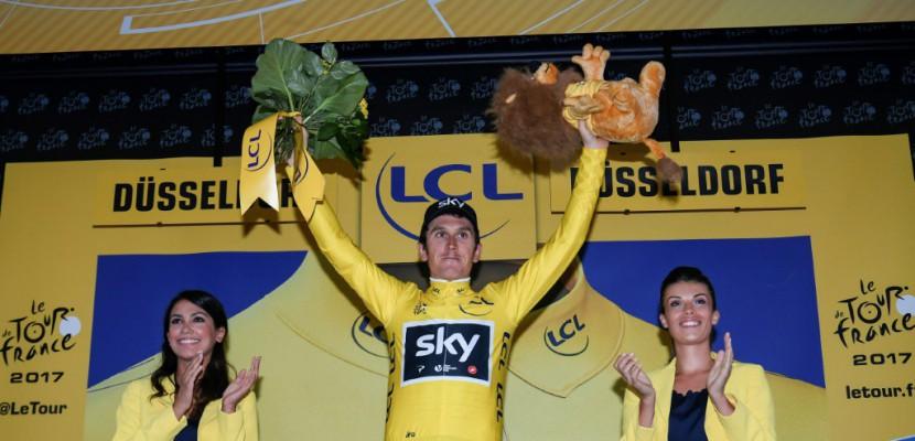 Tour de France: Thomas maillot jaune, Froome très bien placé