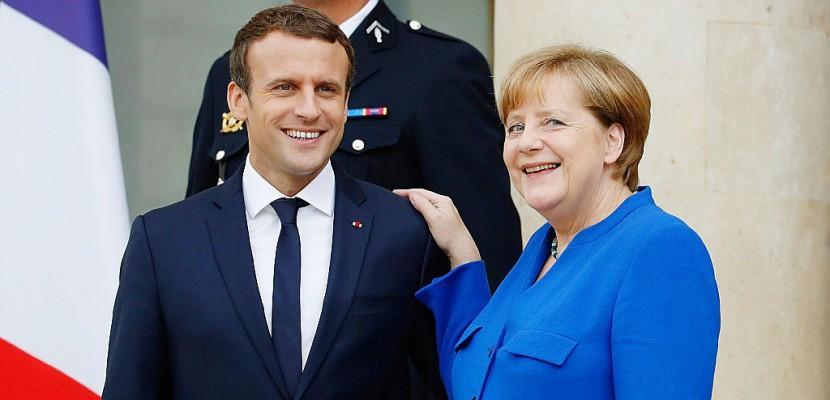 Macron: même vision de Paris et Berlin sur Trump, le protectionnisme, le climat
