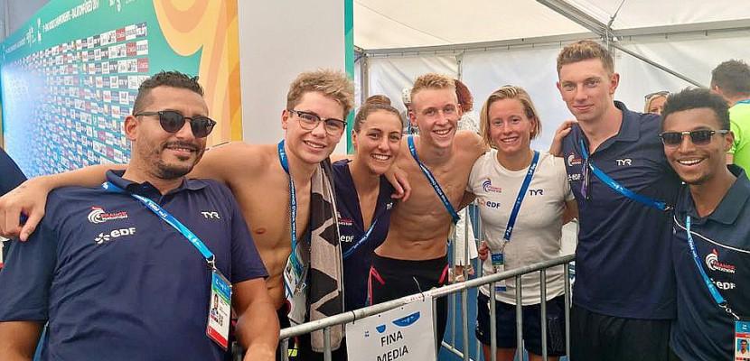 Mondiaux de natation : l'or pour le nageur de Rouen Logan Fontaine sur le relais mixte