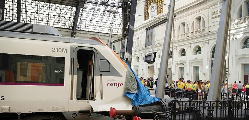 Accident de train à Barcelone: 39 blessés dont un grave