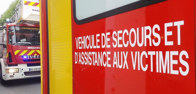 A 88 : un camion se renverse à la Hoguette, près de Falaise
