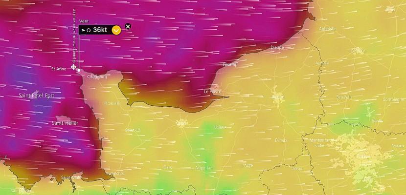 Tempête Eleanor : jusqu'à 129 km/h enregistrés en Normandie
