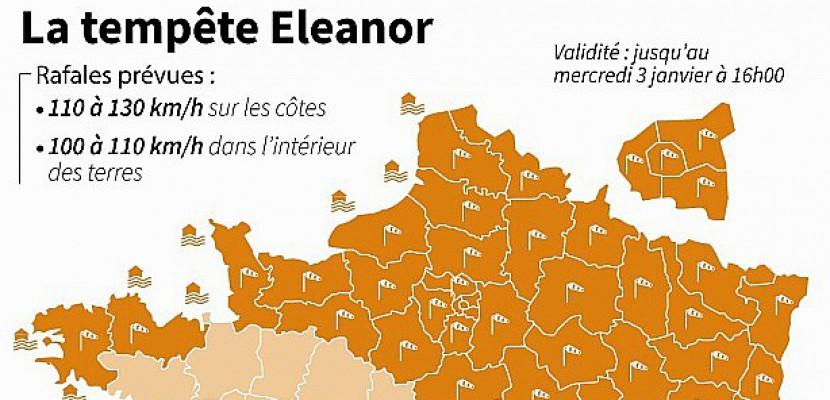La tempête Eleanor touche de plein fouet la Seine-Maritime