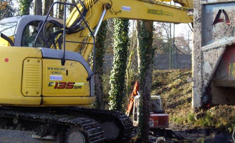 le chantier de reboisement du chateau de Flers se termine