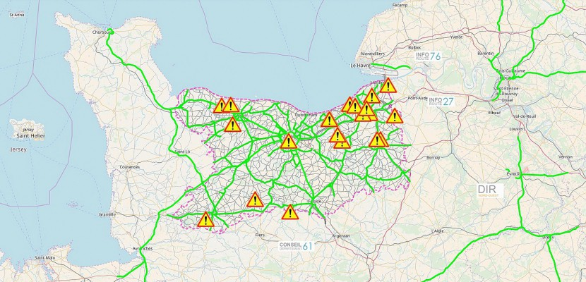 Inondations : 19 routes fermées dans le Calvados