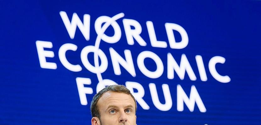 A Davos, Macron en équilibriste du libéralisme