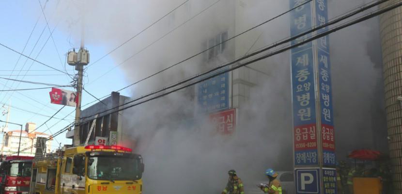 Corée du Sud: des dizaines de morts dans l'incendie d'un hôpital