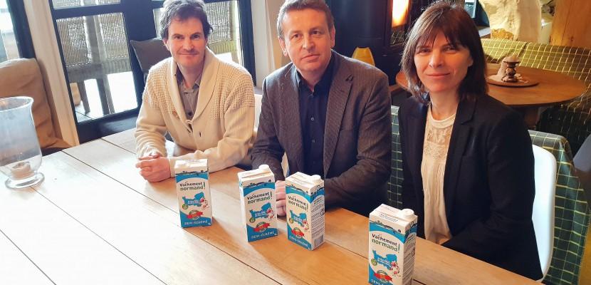 """Normandie : """"Vachement normand"""", une nouvelle marque de lait sans OGM"""
