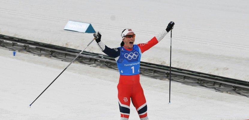 JO-2018: la Norvégienne Björgen rejoint Björndalen comme athlète le plus médaillé des JO d'hiver