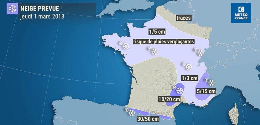 Neige et verglas vont faire leur retour sur la Normandie