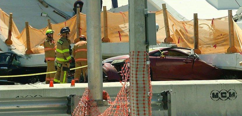 Au moins quatre morts dans l'effondrement d'un pont tout neuf à Miami