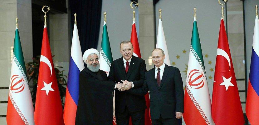 """Erdogan, Poutine et Rohani pour un """"cessez-le-feu durable"""" en Syrie"""