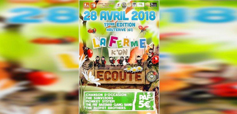 La 11ème édition de La ferme k'on écoute,festival à la ferme d'Hauterive (Orne)