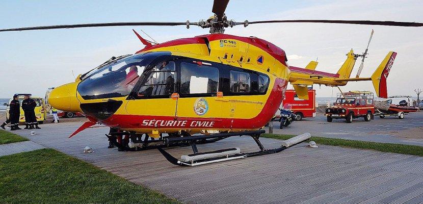 Moto contre voiture: deux blessés graves en Seine-Maritime