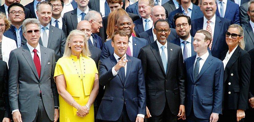 Macron se félicite des engagements des géants de la high tech
