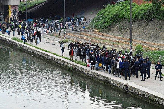 Evacuation du plus grand campement de migrants de Paris