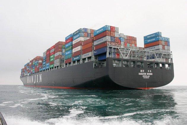 Collision entre un voilier et un porte-conteneurs au large de La Hague