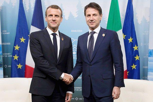 Macron reçoit Conte pour dépasser les échanges houleux sur la crise migratoire