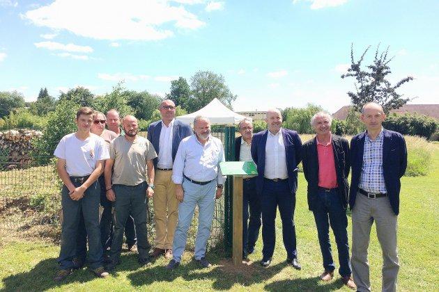 Inauguration d'un arboretum au CPO d'Alençon