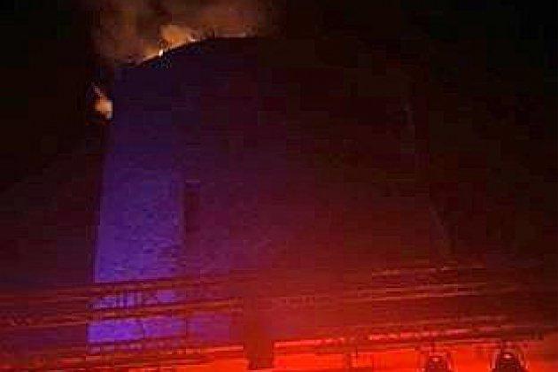 [Vidéo] - Une tour du château de Saint-Sauveur-le-Vicomte en feu