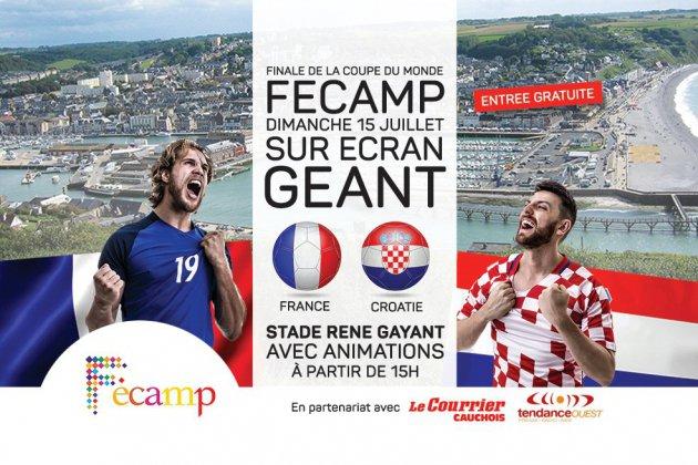 Fécamp : un écran géant pour la finale du Mondial de foot