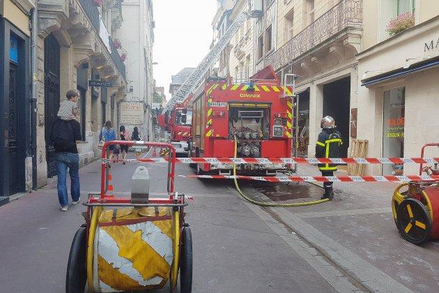 Une quarantaine de pompiers mobilisés sur un incendie à Rouen