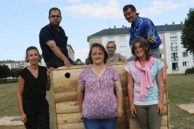 Orne: Œuvre collective dans le quartier Saint-Michel de Flers