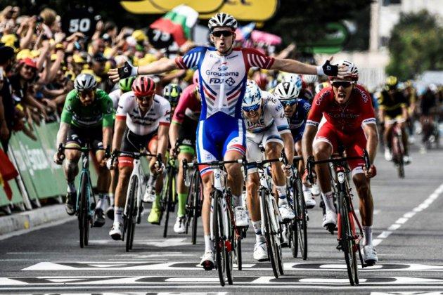 Tour de France: Démare le plus rapide à Pau