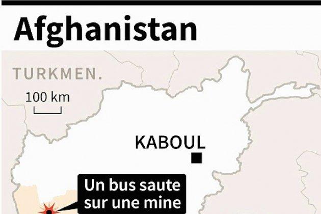 Afghanistan: un bus saute sur une mine, 8 morts, 40 blessés