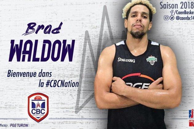 "Brad Waldow, ""petit"" nouveau au Caen Basket Calvados"