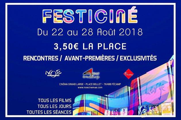 A Fécamp, Festi-Ciné 2018revient du 22 au 28 août 2018