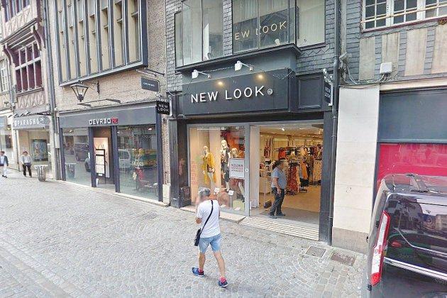 Fermeture du magasin de vêtements New Look dans le centre de Rouen