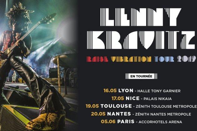 Lenny Kravitz annonce les dates françaises de sa tournée