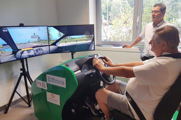 Près de Caen, un simulateur pour réapprendre à conduire après un accident