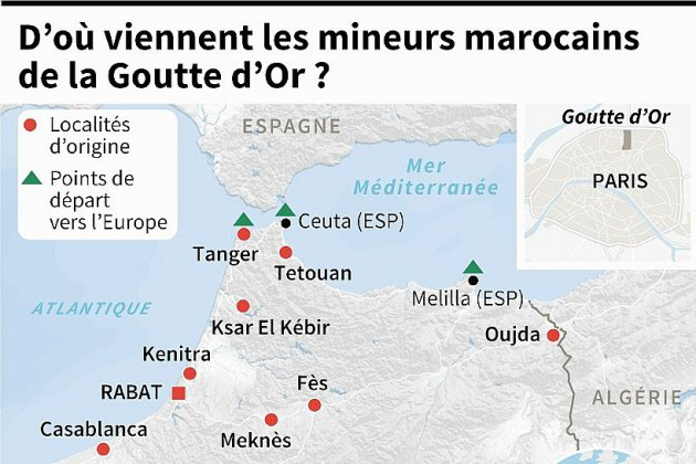Paris: les enfants des rues de la Goutte d'Or, de jeunes Marocains qui défient toute prise en charge