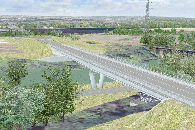 Un viaduc sur l'Orne pour désengorger le trafic routier près de Caen