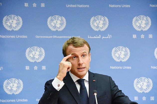 """Macron dénonce """"la loi du plus fort"""" à la tribune de l'ONU"""