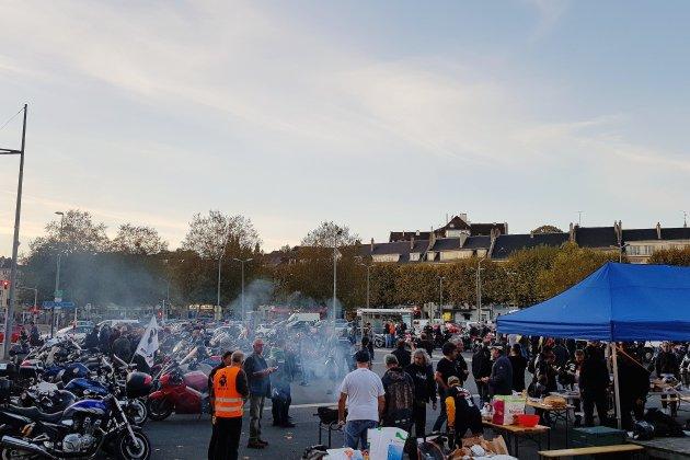 [PHOTOS] Des centaines de motards en colère réunis à Caen