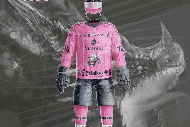 Dragons de Rouen: des maillots aux enchères pour Octobre rose