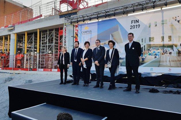 Le Havre: visite ministérielle pour le chantier de la Cité Numérique