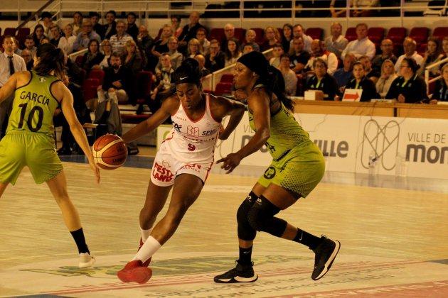Basket (LFB) : Mondevillerésiste mais s'inclineà Basket Landes